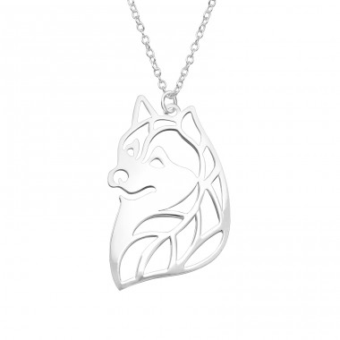 Fox - 925 Sterling Silver Necklace without stones A4S39216