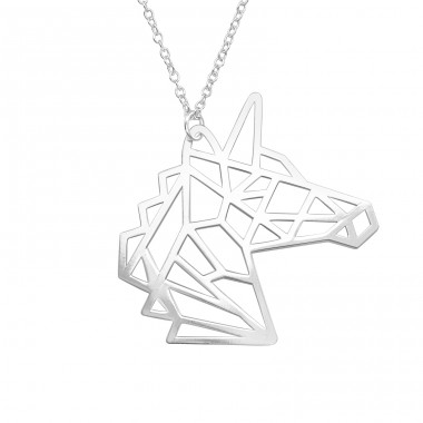Unicorn - 925 Sterling Silver Necklace without stones A4S39217