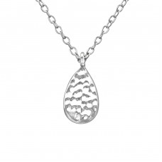 Pear - 925 Sterling Silver Necklace without stones A4S39230
