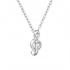 Treble Clef - 925 Sterling Silver Necklace without stones A4S39232