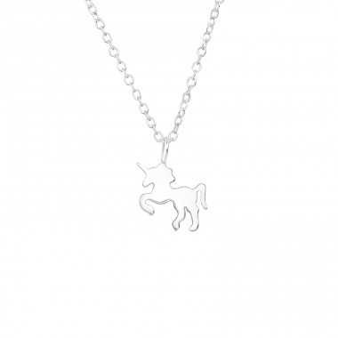 Unicorn - 925 Sterling Silver Necklace without stones A4S39236