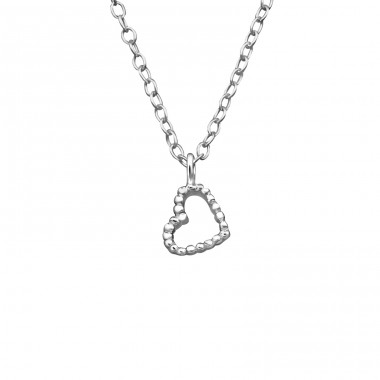 Heart - 925 Sterling Silver Necklace without stones A4S39241