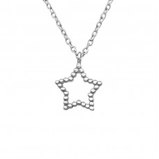 Star - 925 Sterling Silver Necklace without stones A4S39242
