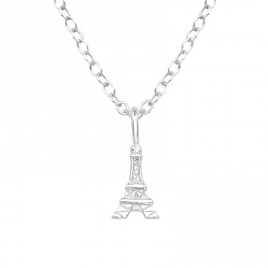 Eiffel Tower - 925 Sterling Silver Necklace without stones A4S39243