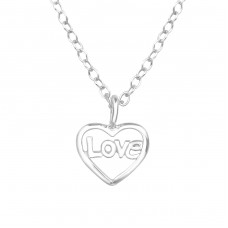 Heart - 925 Sterling Silver Necklace without stones A4S39244
