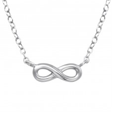 Infinity - 925 Sterling Silver Necklace without stones A4S39346