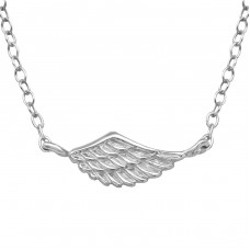 Wing - 925 Sterling Silver Necklace without stones A4S39347