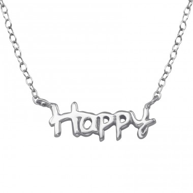 Happy - 925 Sterling Silver Necklace without stones A4S39348