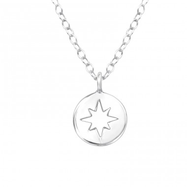 Star - 925 Sterling Silver Necklace without stones A4S39448