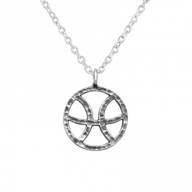 Pisces Zodiac Sign - 925 Sterling Silver Necklace without stones A4S39469