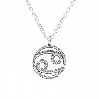 Cancer Zodiac Sign - 925 Sterling Silver Necklace without stones A4S39472