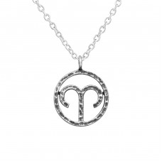 Aries Zodiac Sign - 925 Sterling Silver Necklace without stones A4S39473