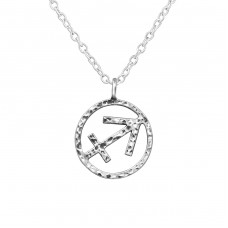 Sagittarius Zodiac Sign - 925 Sterling Silver Necklace without stones A4S39474