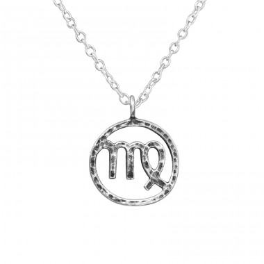 Virgo Zodiac Sign - 925 Sterling Silver Necklace without stones A4S39475