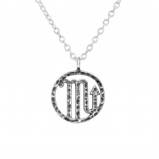 Scorpio Zodiac Sign - 925 Sterling Silver Necklace without stones A4S39476