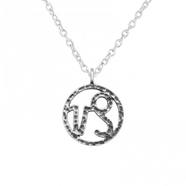 Capricorn Zodiac Sign - 925 Sterling Silver Necklace without stones A4S39488