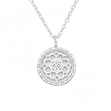 Flower - 925 Sterling Silver Necklace without stones A4S39489