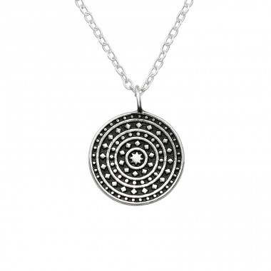 Oxidized - 925 Sterling Silver Necklace without stones A4S39490