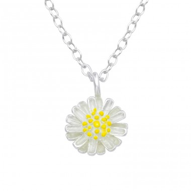 Flower - 925 Sterling Silver Necklace without stones A4S39550