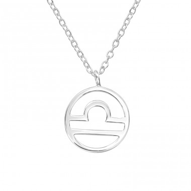 Libra Zodiac Sign - 925 Sterling Silver Necklace without stones A4S39584