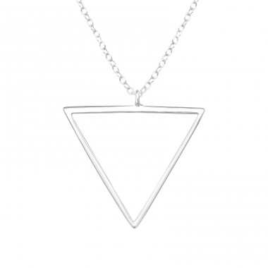 Triangle - 925 Sterling Silver Necklace without stones A4S39711