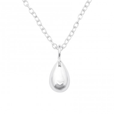 Shinny Pear - 925 Sterling Silver Necklace Without Stones A4S39713