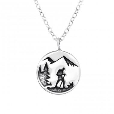 Adventure - 925 Sterling Silver Necklace without stones A4S39804
