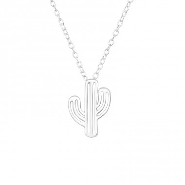 Cactus - 925 Sterling Silver Necklace without stones A4S39887