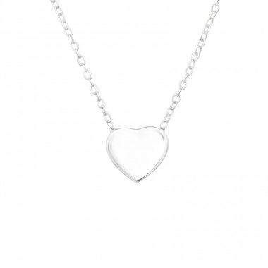 Heart - 925 Sterling Silver Necklace without stones A4S39889