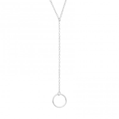 Circle Y - 925 Sterling Silver Necklace without stones A4S39979