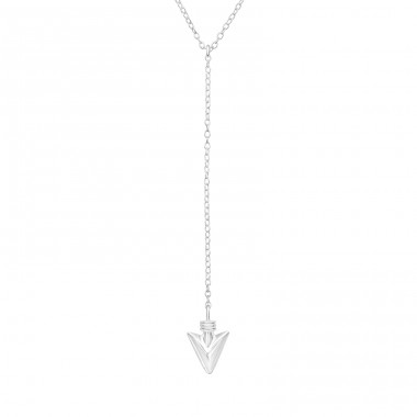 Head Arrow Y - 925 Sterling Silver Necklace without stones A4S40022