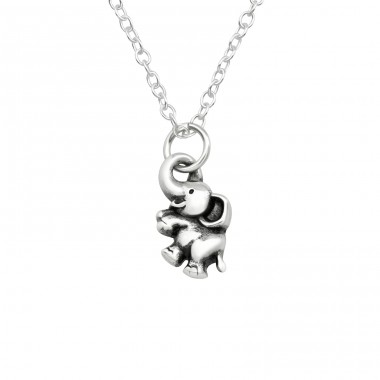 Elephant - 925 Sterling Silver Necklace without stones A4S40023