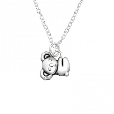 Koala - 925 Sterling Silver Necklace without stones A4S40024