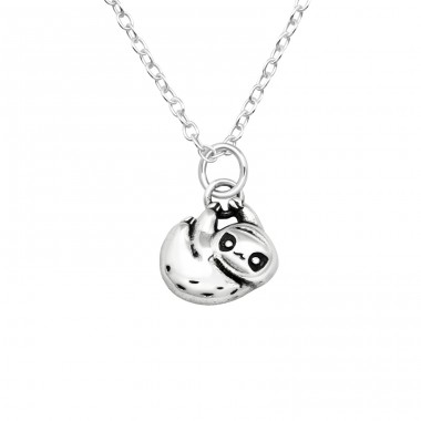 Sloth - 925 Sterling Silver Necklace without stones A4S40025