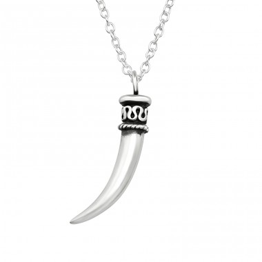Ivory - 925 Sterling Silver Necklace without stones A4S40027