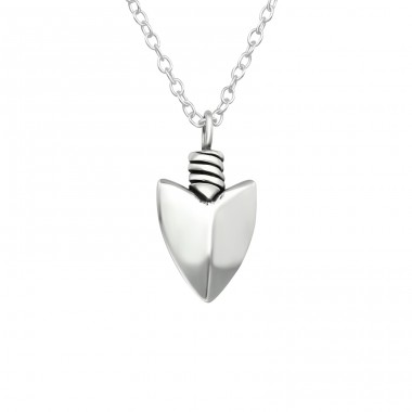 Arrowhead - 925 Sterling Silver Necklace without stones A4S40034