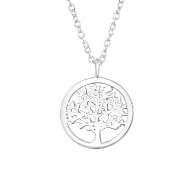 Tree Of Life - 925 Sterling Silver Necklace without stones A4S40035