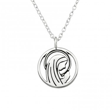 Mary - 925 Sterling Silver Necklace without stones A4S40036