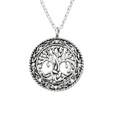 Tree Of Life - 925 Sterling Silver Necklace without stones A4S40037