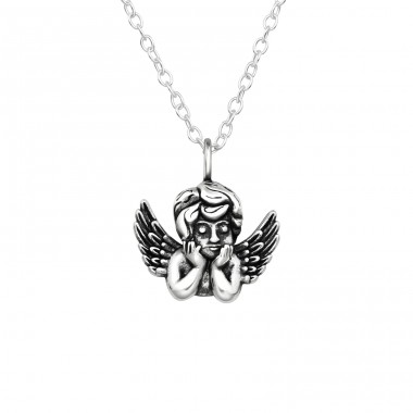 Cupid - 925 Sterling Silver Necklace without stones A4S40038