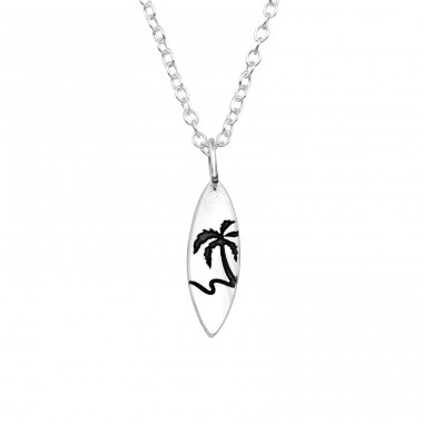 Surfboard - 925 Sterling Silver Necklace without stones A4S40041