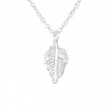 Leaf - 925 Sterling Silver Necklace without stones A4S40043