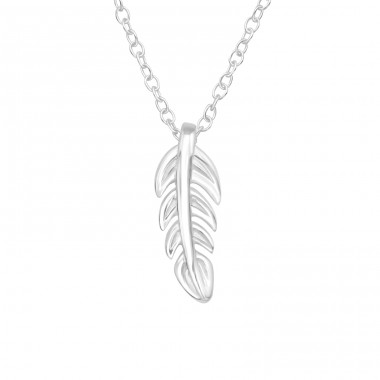 Leaf - 925 Sterling Silver Necklace without stones A4S40412