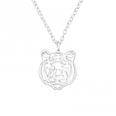 Tiger - 925 Sterling Silver Necklace without stones A4S40420