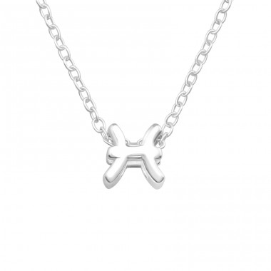 Pisces Zodiac Sign - 925 Sterling Silver Necklace without stones A4S40437