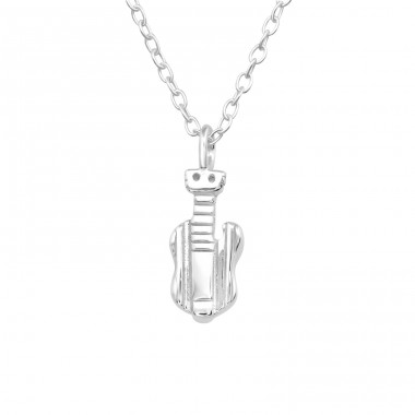 Guitar - 925 Sterling Silver Necklace without stones A4S40446