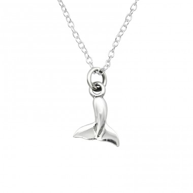 Whale - 925 Sterling Silver Necklace without stones A4S40454