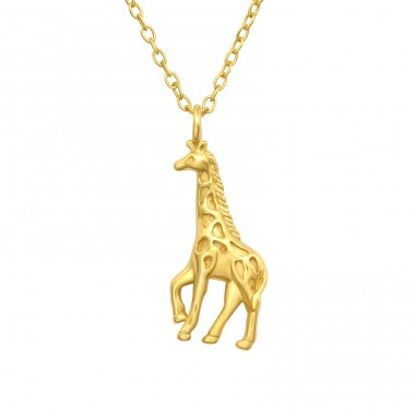Golden giraffe - 925 Sterling Silver Necklace Without Stones A4S40560