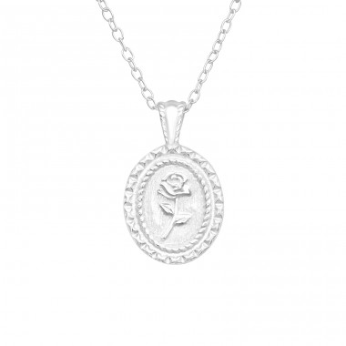 Rose - 925 Sterling Silver Necklace without stones A4S40574
