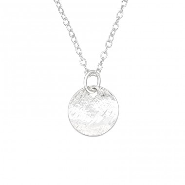 Round - 925 Sterling Silver Necklace without stones A4S40722
